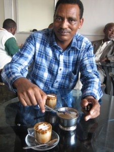 lishan adam says: have a look at this philipp! machiato at dj's cafe - Ethiopian Espresso