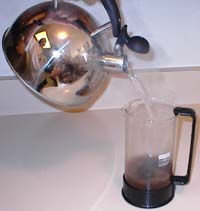 Pour Water into the French Press