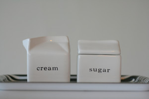 cream & sugar, anyone? (the staple of coffee additives)