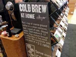 Cold Brew sign, Whole Foods, Los Angeles, California, USA
