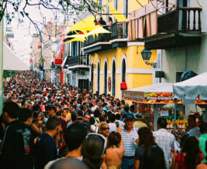 Crowd in St. Sebastian II