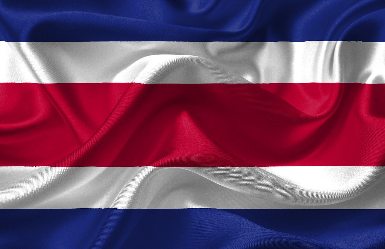 Costa Rica Country Flag American