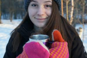 Coffee, Winter, Girl, Teen, Cup, Happy (Coffee Good For Depression? Harvard Says Yes...)