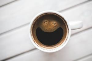 Coffee cup, Happy smile, Monday