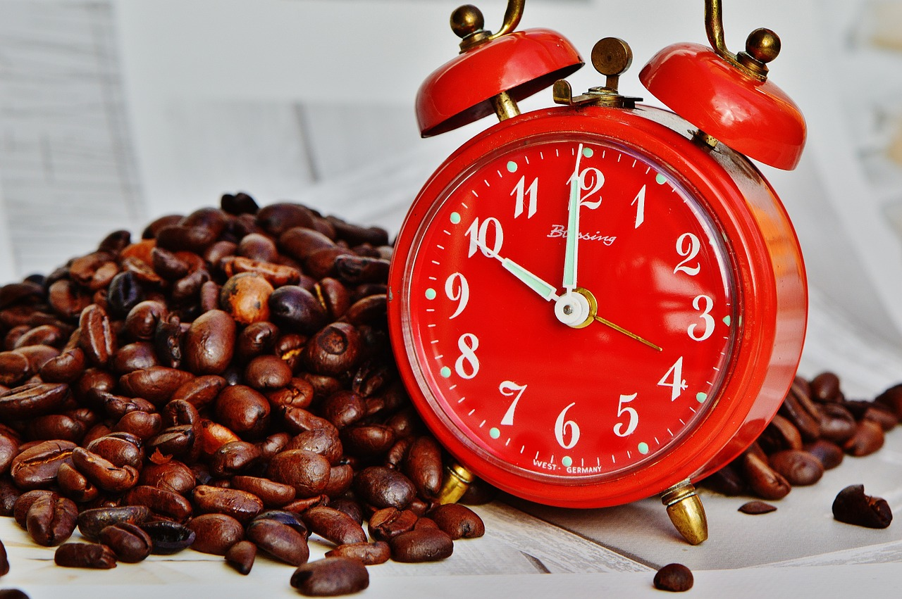 Coffee break, Break, Alarm Clock. Time